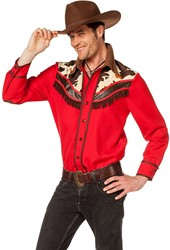 Voor Heren Cowboy Blouse Rood Blouse Cowboy gSWW8RBq