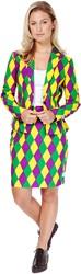 Dameskostuum OppoSuits Harlequeen