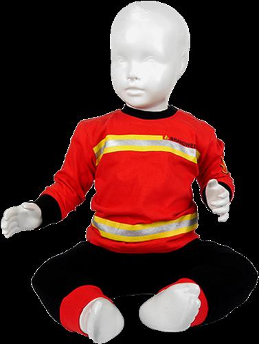 Kinder Pyjama Brandweer Rood/Zwart