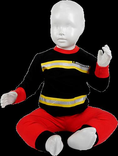 Kinder Pyjama Brandweer Zwart/Rood