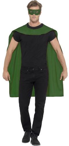 Superhelden Cape Groen met Oogmasker