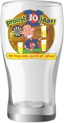 Bier glas Proost 30 jaar