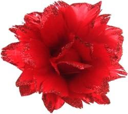 Bloem Rood met Glitter aan IJzerdraad
