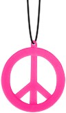 Peace Ketting Neon Pink