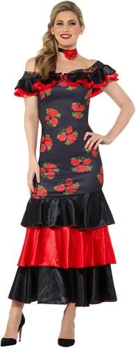 Dameskostuum Spaanse Flamenco Danseres