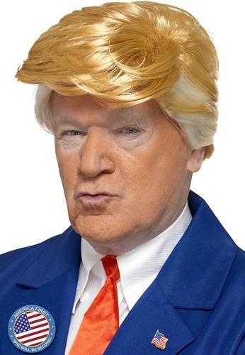 Pruik President Donald Trump