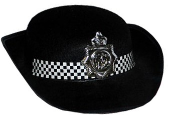 Politie Hoed Dames Zwart