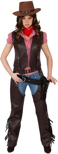 Dames Cowboy Chaps Bruin Luxe
