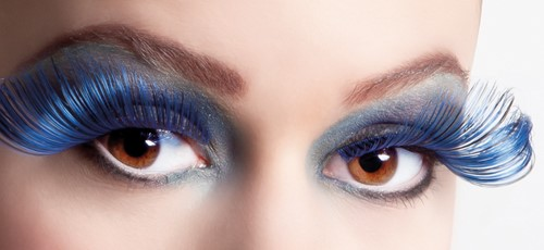 Wimpers Flamboyant Zwart-Blauw