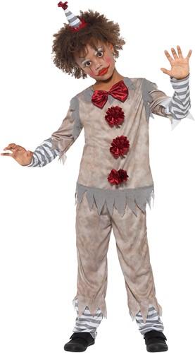 Kinderkostuum Scary Vintage Clown Grijs-Rood