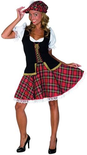 Dameskostuum Sexy Schotse Luxe Rood