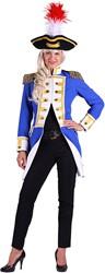Jas Gardeofficier Blauw-Wit voor dames