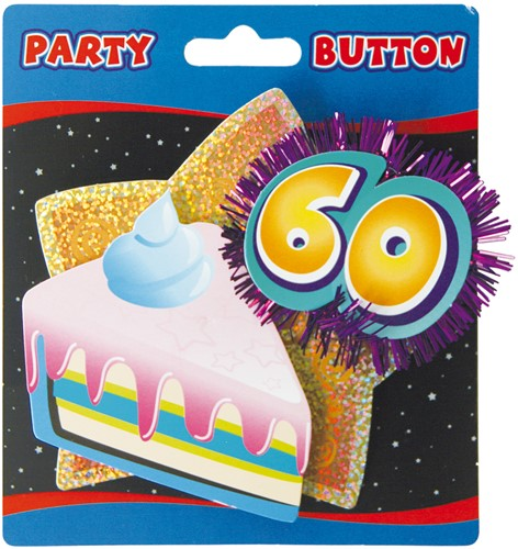 3D Button 60 Jaar