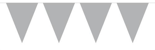 Vlaggenlijn Metallic 10mtr Zilver