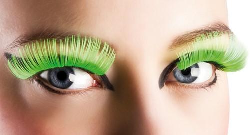 Wimpers Lang Neon Groen