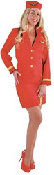 Stewardessenpakje Luxe Rood