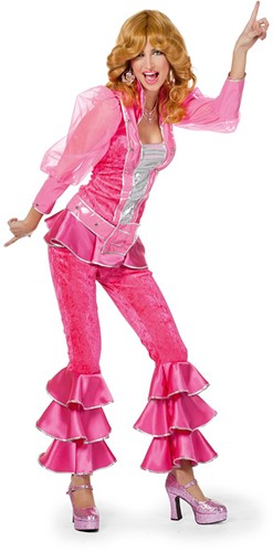 Dameskostuum Mama Mia Luxe Pink