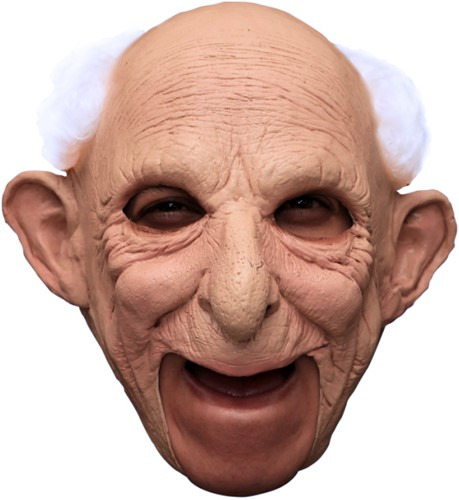 Masker Abraham - Opa Gus Latex met haar (Kinloos)