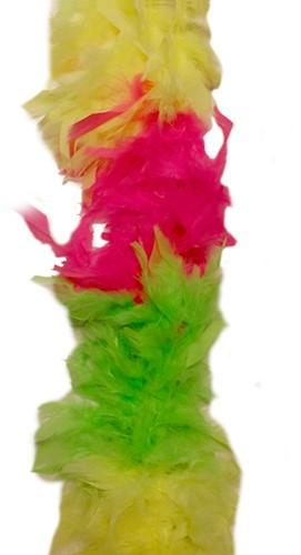Boa Meerkleurig 75 gram Neon Geel, Groen en Pink