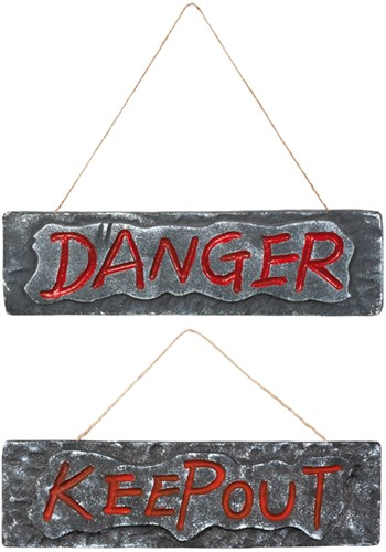 Deurbord KEEP OUT 10x35cm