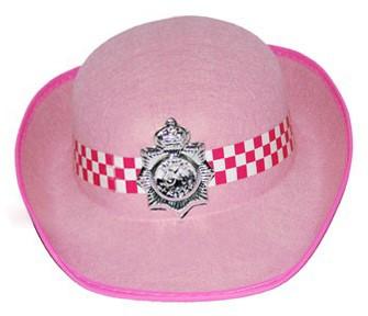 Politie Hoed Dames Roze
