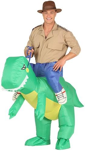 Opblaasbare Piggyback Dinosaurus