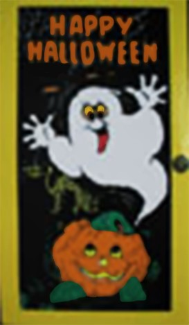 Deurdecoratie Halloween
