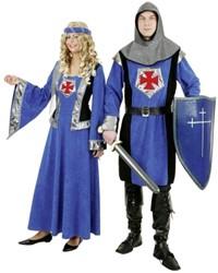 Dameskostuum Jonkvrouw Zwart/Blauw