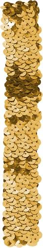 Pailletten hoofdbandje Goud