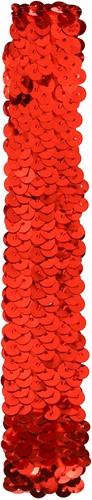 Pailletten hoofdbandje Rood
