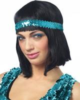 Pailletten Hoofdbandje Turquoise (voorbeeld)