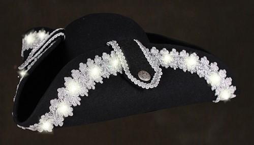 Driesteek Zwart-Zilver met Witte LED-verlichting