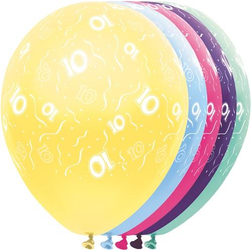 Ballonnen 10 jaar Metallic 5st
