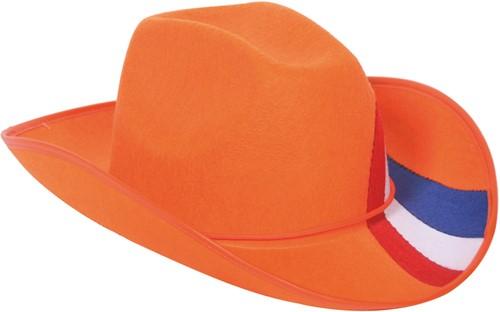 Cowboyhoed Oranje RWB