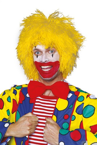 Clownspruik draadjes Geel