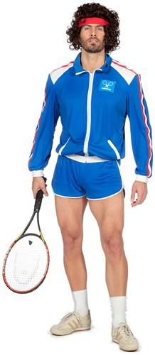 Eighties Tennis Kostuum Bjorn voor heren