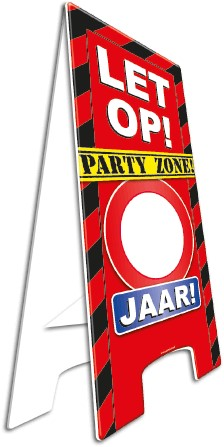 Warning Sign Party zone!