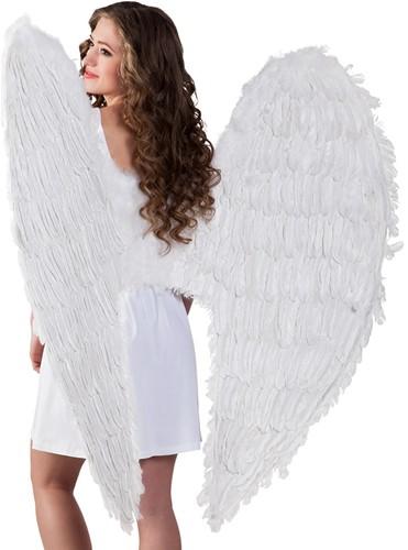 Engelen Vleugels Mega Wit (120x120cm)