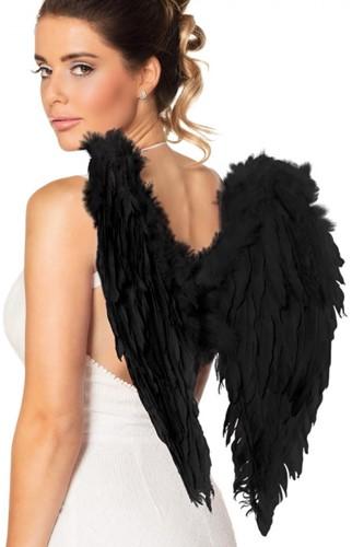 Engelen Vleugels Zwart (50x50cm)