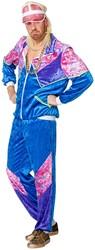 Eighties Trainingspak Blauw voor heren