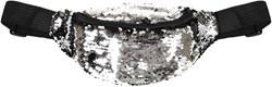 Buideltasje Pailletten Zilver-Zwart
