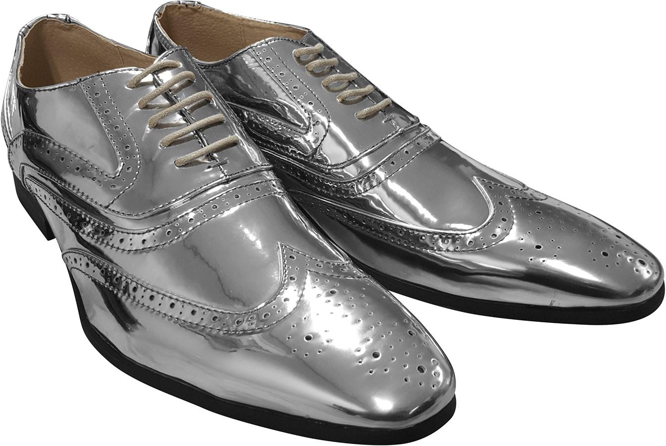 Wonderbaarlijk Heren Schoenen Zilver Luxe FH-29