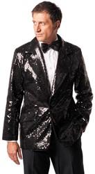 Pailletten Colbert Zwart Luxe