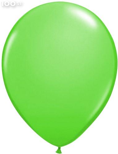 Ballonnen Metallic Appelgroen 35cm - 100 stuks