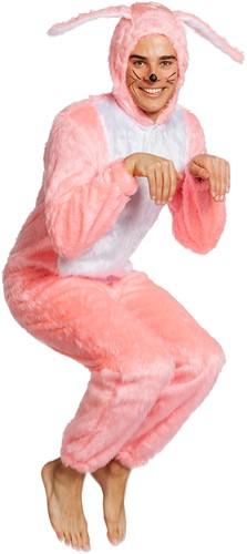 Kostuum Paashaas Roze