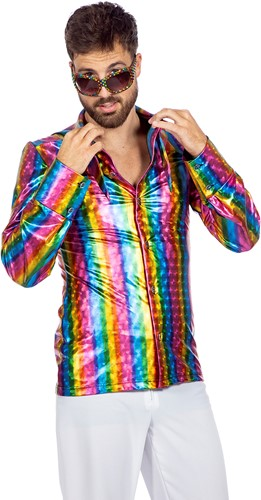 Disco Regenboog Overhemd voor heren