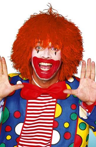 Clownspruik draadjes Oranje
