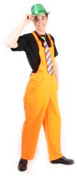 Tuinbroek Fluor Oranje