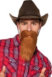 Cowboy Baard Rood-Bruin