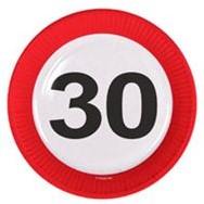 Bordjes 30 jaar Verkeersbord 8st